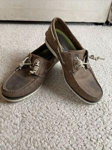mens timberland boat shoes Uk 11 Brown