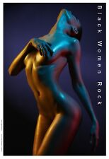 Nude Black Women Rock - Mini Print  African American Art