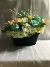 Hand Made Silk Floral Arrangement Roses, Marigolds Calla Lillies,  Hydrendea,
