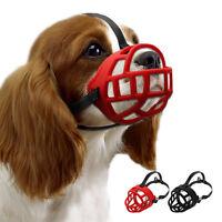 Reflective Padded Basket Dog Muzzle for Biting Barking Soft Cage Muzzle 6 Sizes