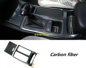 Carbon fiber Interior Gear Shift Box Panel Trim Frame For KLA Sorento 2015-2019