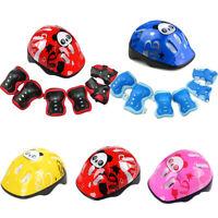 Kids Boys Girls Skate Cycling Bike Safety Helmet Knee Elbow Pads Set