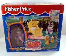 Fisher Price Baby Nursery Set Hideaway Hollow Toy Bunny Cradle Rocking Horse Rug