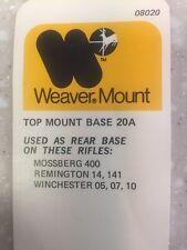 Weaver Top Mount Base #20A