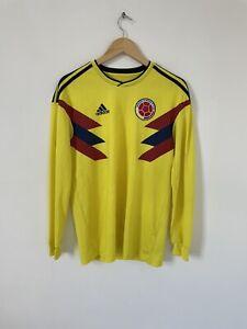 Colombia 2018 2019 Home Football Shirt Long Sleeve Adidas Size Medium