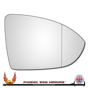Right Hand Drivers Side VW Golf Mk7 Mk7.5 2012-2021 Wide Angle Wing Mirror Glass
