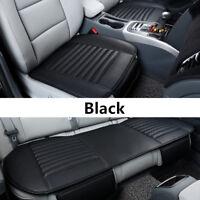Schwarz Universal Auto Car Sitzauflage Sitzbezüge Sitzkissen Sitzmatte PU-leder