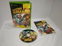Destroy All Humans (Microsoft Xbox, 2005) Tested W/ Manual Complete