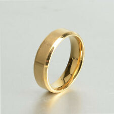 8mm Stainless Steel Ring Man/Women's Band Silver Black Blue Gold Rose Size 6-13