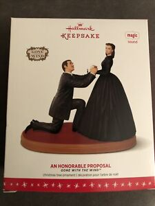 HALLMARK 2016 GONE WITH THE WIND AN HONORABLE PROPOSAL MAGIC SOUND ORNAMENT