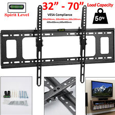 "Slim TV Wall Bracket Mount Tilt For 32 35 40 50 55 60 65 70"" Inch LED LCD Plasma"