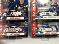NEW HO AUTO WORLD SET OF 4 NASCAR SERIES IWHEELS SLOT CARS SUPER III 3 R1 AFX
