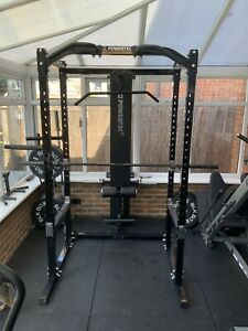 Powertec Workbench Power Rack With Lat Tower/Low Row And 7ft Olympic Bar