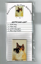 New Akita Pet Dog Magnetic Refrigerator List Pad & Magnet By Ruth Maystead Aki-2