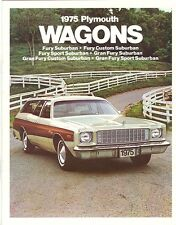 1975 Plymouth Station Wagon Brochure Fury/Suburban