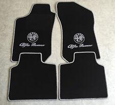 Autoteppich Fußmatten für Alfa Romeo 145 146 schwarz silber Logo und Schrift Neu