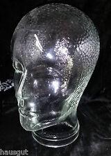 Glaskopf 70er Jahre für Kopfhörer Hüte Mützen Perücken Deko Glas Kopf