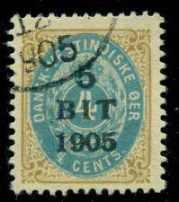 DANISH WEST INDIES #40av (29av) 5BIT 1905 Ovpt, INVERTED FRAME, used, RARE