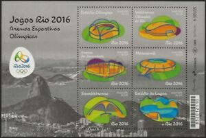Our Rio 2016 Stamps – Olympic and Paralympic Games  Arenas/Stadiums 6 stamps
