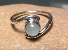 Sterling silver CHALCEDONY ring UK N½/US 7. Gift bag.