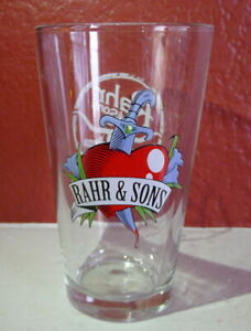 Rahr & Sons Dripping Dagger Pint Beer Glass Fort Worth Texas