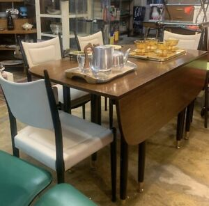 G Plan E Gomme Dining Chairs x8 & Teak Gate Leg Table Mid-Century