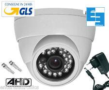 telecamera AHD  mini dome 720P 3,6mm.1 Mpx + Alimentatore+ 2 BNC