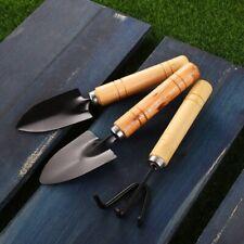 3 Stück Gartenstahl Handwerkzeuge GABEL, TROWEL & SCHAUFEL Gartengeräte Klei#qq