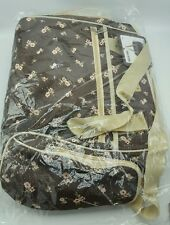 "Baby Diaper Changing Bag Brown/Pink  Flowers ""Love is"" Model toddler wipes 69.99"