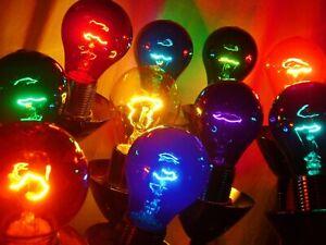 Light Bulbs - A19 Party Light Bulbs - Color Variety