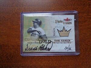 2001 Fleer Triple Crown Frank Robinson Auto Autograph & Game Used Bat #/66