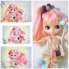 "Takara 12"" Blythe Nude Doll from Factory long pink hair joints body new sale hot"
