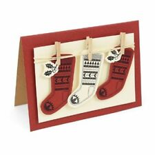 Sizzix Framelits Die Set 2pk w/Stamp Fairisle Stocking 662166 Cutting Dies
