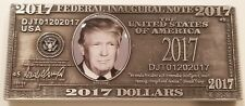 US President Donald Trump Federal Inaugural Bill Money Challenge Coin (non NYPD)
