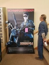 TERMINATOR 2 LIFE SIZE STANDEE. ONLY ONE MADE FOR THE 1991 VSDA CONVENTION RARE