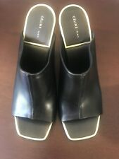 CELINE Black Leather Mule with Gold Trim- Size 37/7