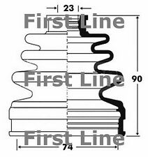 FCB2839 FIRST LINE CV JOINT BOOT KIT fits Mazda 6 - LH
