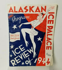 Ice Skating Memorabilia Alaskan Ice Palace Wichita Kansas 1944 Program