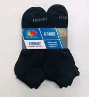 Fruit of the Loom Men's Big and Tall Cushioned Low Cuts Socks 6/12 Pair Sz 12-16