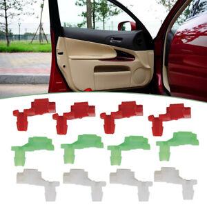 12 Pairs Car Plastic Rivet Door Lock Rod Clip 5mm Rod Size Push Clips