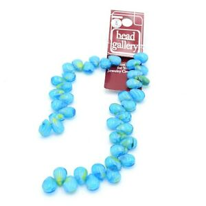 Bead Gallery Aqua Blue Glass Teardrop Shape Beads For Jewelry Crafting 41