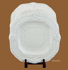 Set of 2 Square Dinner Plates, SUPERB+ Condition! American Atelier Baroque 5286