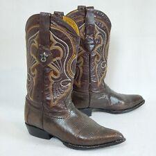 LOS ALTOS Boots Genuine Lizard Ring - Brown Western Cowboy Boot Size 9 EE