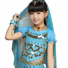 NEW Girl Belly Dance Costume Crop Top Halloween Performance Carnival Party Shirt