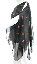 New Black Red Gothic Poncho Kaftan Top Plus Size Ladies One Size Womens *LICK*