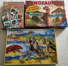 Dinosaurier Spiel Rivalen der Urzeit (Ravensburger) & Puzzle 99 HP & Dino Lotto