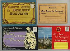 STE. ANNE DE BEAUPRE * lot of four souvenir folders * Catholic shrine in Canada
