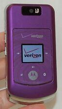 Motorola Verizon W755 Flip Cell Phone PURPLE vCast music 1.3 MP Cam bluetooth 3G