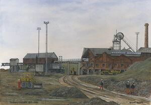 Parkhill Colliery - 1877 - 1983 - Ltd Ed Print - Pit Pics - Coal Mining