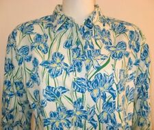 LILLY PULITZER BLOUSE FLORAL COTTON Ladies Small size 4-6 VINTAGE 1980's